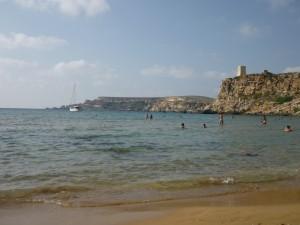Die Bucht von Ghain Tuffieha - Malta